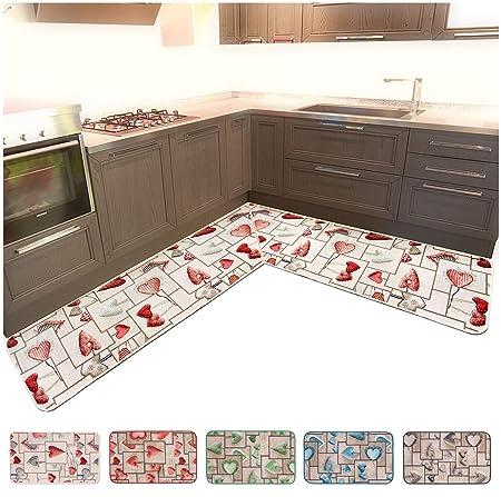 ARREDIAMOINSIEME-nelweb Tappeto Cucina ANGOLARE su Misura Bordato Tessitura  Piatta Retro Antiscivolo Contattare Venditore per Info MOD.CHALET16 ...