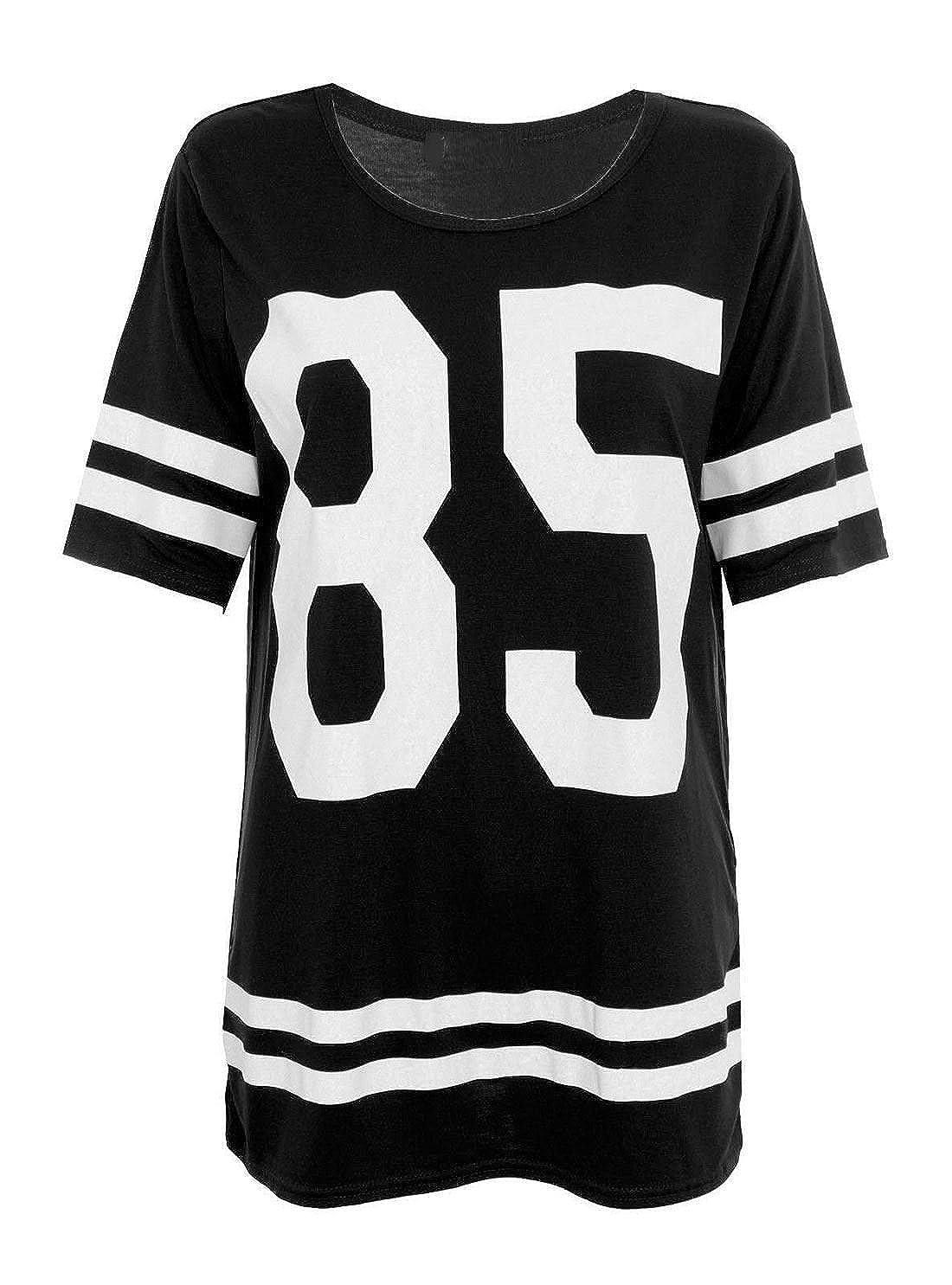 Glamour Babe - Camiseta de fútbol americano para mujer, diseño de número 85, color negro: Amazon.es: Ropa y accesorios