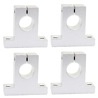 KEESIN - Soporte de guía de eje lineal de aluminio de 16 mm para ...