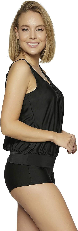36-62 f5549 Raffinierte Bademode im Oversize Look Tankini Styles Gr