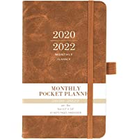 """2020-2022 Monthly Pocket Planner - Three Year Pocket Monthly Calendar, 36 - Month Planner with Pen Hold, 6.3"""" × 3.8"""", Jan 2020 - Dec 2022, Elastic Closure, Page Divider, Inner Pocket, Thick Paper"""