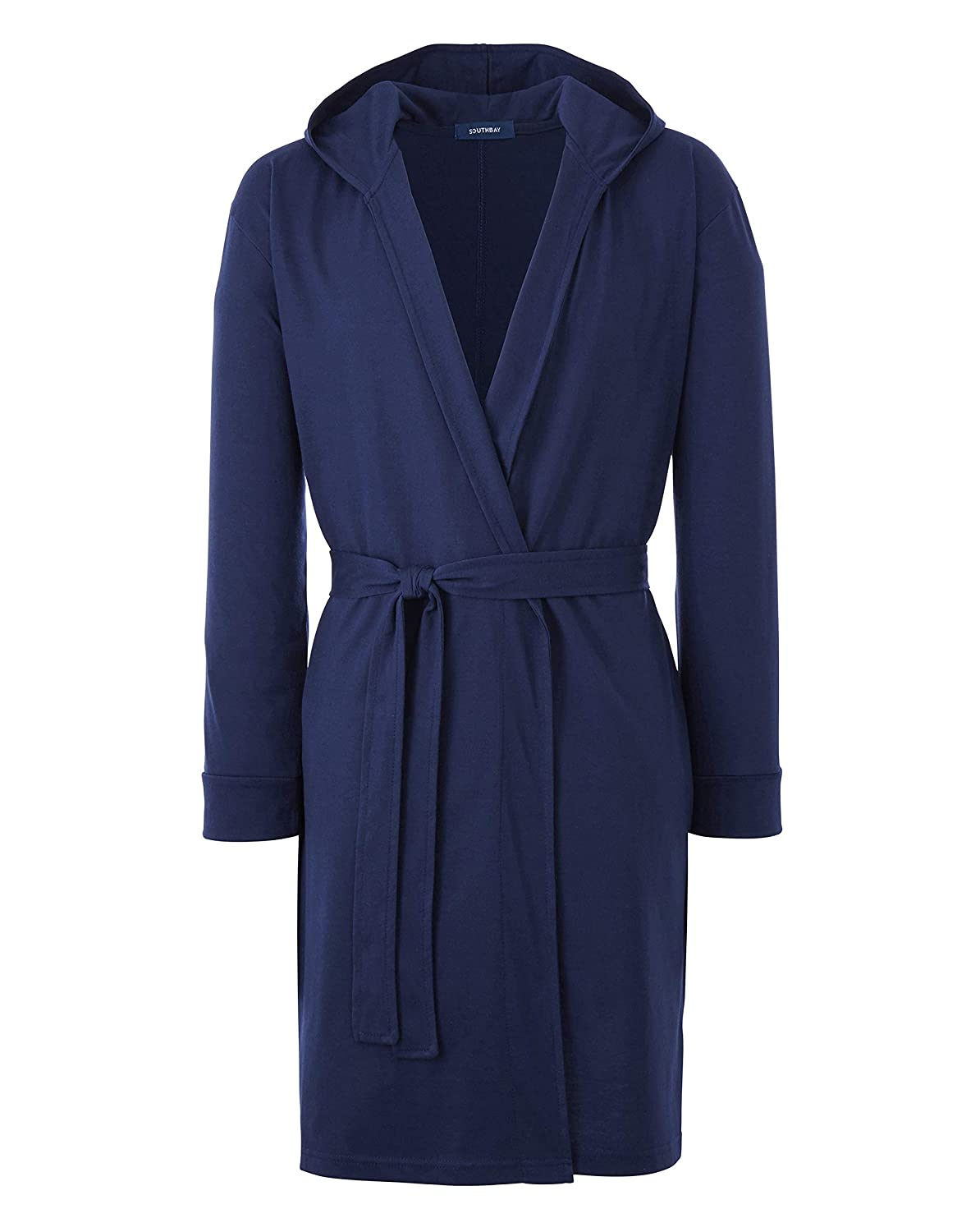 JACAMO Mens Southbay Jersey Hooded Dressing Gown,