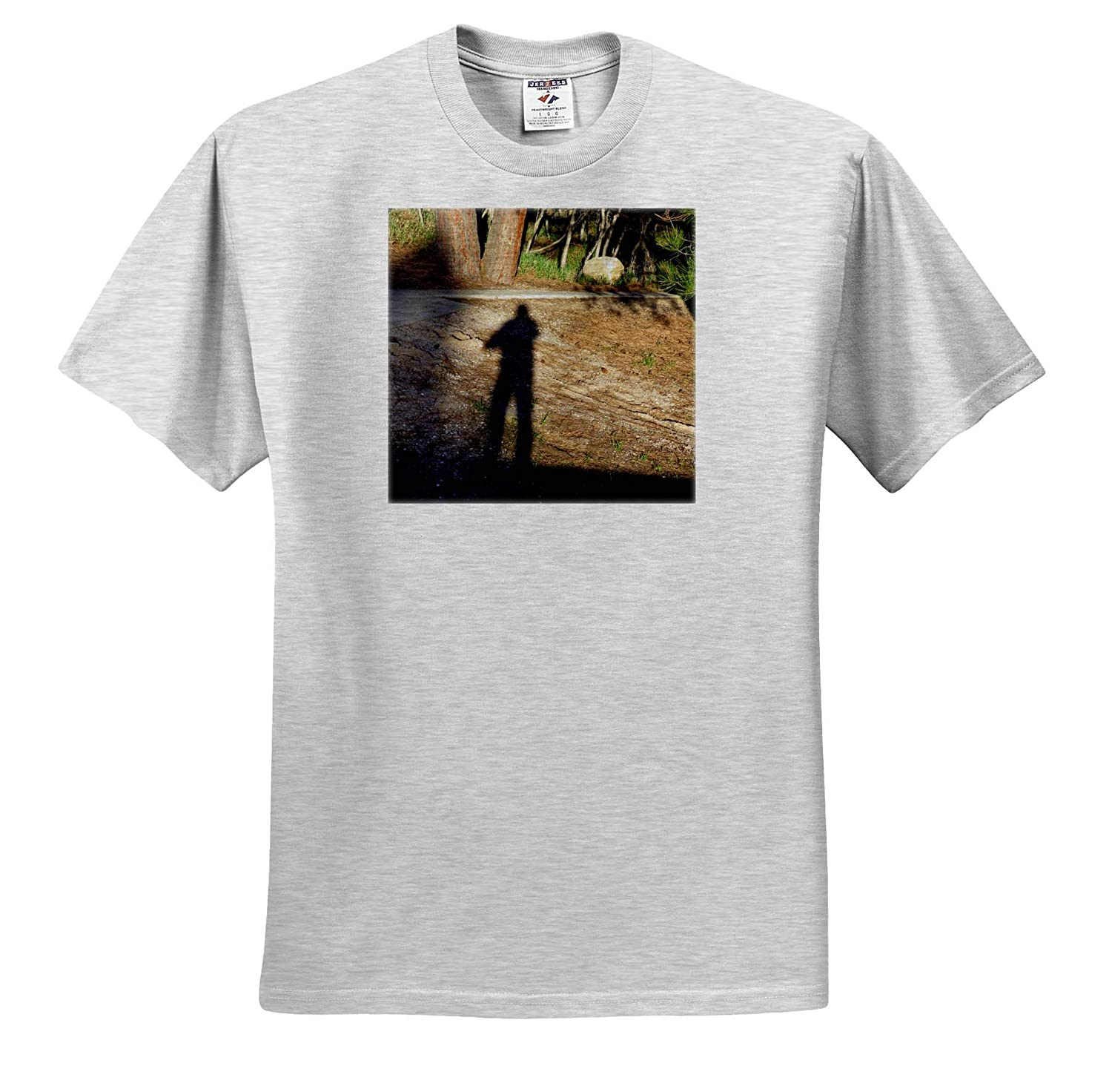 Adult T-Shirt XL 3dRose Jos Fauxtographee- Shadow A Shadow of a Woman with a cast on her arm in Dixie Forest ts/_319007