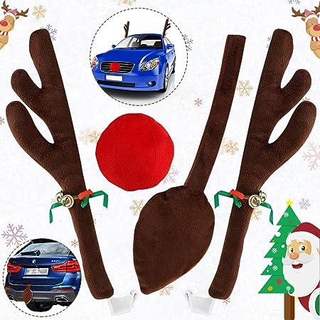 HUHUDAY Reno Auto Rudolf para Coche Reno Disfraz de Navidad ...