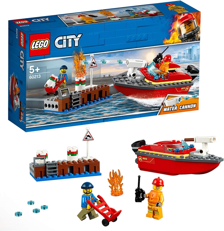 LEGO City Fire - Llamas en el Muelle, juguete creativo de ...