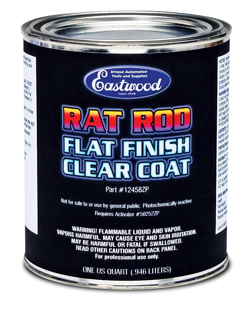 Eastwood Premium Matte Acrylic Urethane Rat Rod Flat Clear Topcoat Paint 4:1 Quart High UV Chemical Resistant