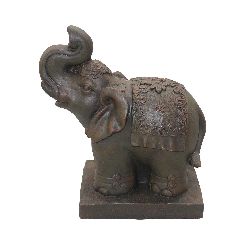 HOMEA 5dej1326ch Estatua Dibujo Elefante Tiza marrón 33 x 18 x 40 cm: Amazon.es: Hogar