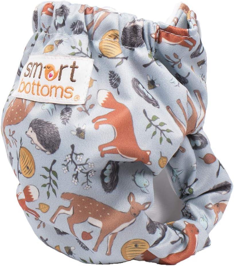 Forest Friends Smart Bottoms Born Smart 2.0 AIO Stoffwindel f/ür Neugeborene 2,7-7 kg Muster