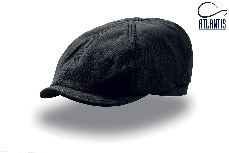 BECK NERO tg S/M (54/57cm) IRISH CAP retrò vintage 100% Cotone CANVAS coppola cappello Unisex TRENDY KEYONE BECG