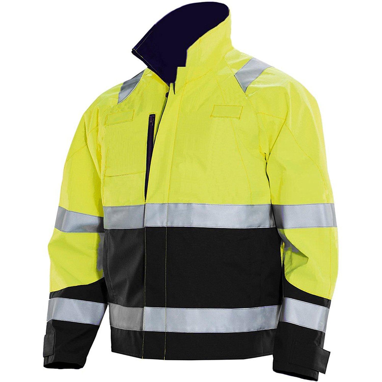 JOBMAN Workwear Men's High Visibility Service Jacket Yellow/Black X-Large [並行輸入品] B075CJV7W6