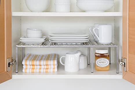 Amazon Com Kitchen Cabinet Expandable Shelf Organizer Dish Cup Can