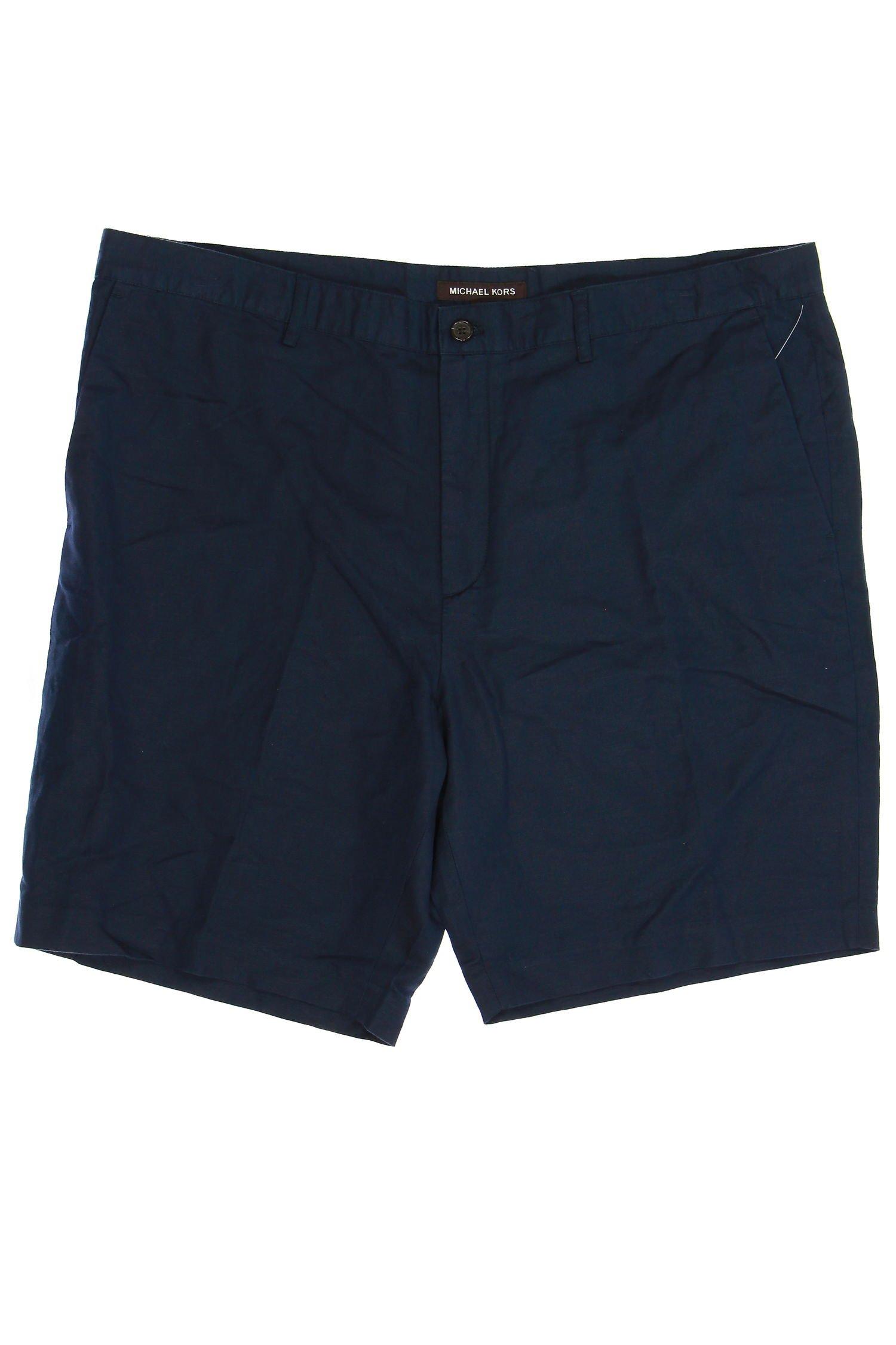 Michael Kors Flat Front Walking Shorts (38, Blue)