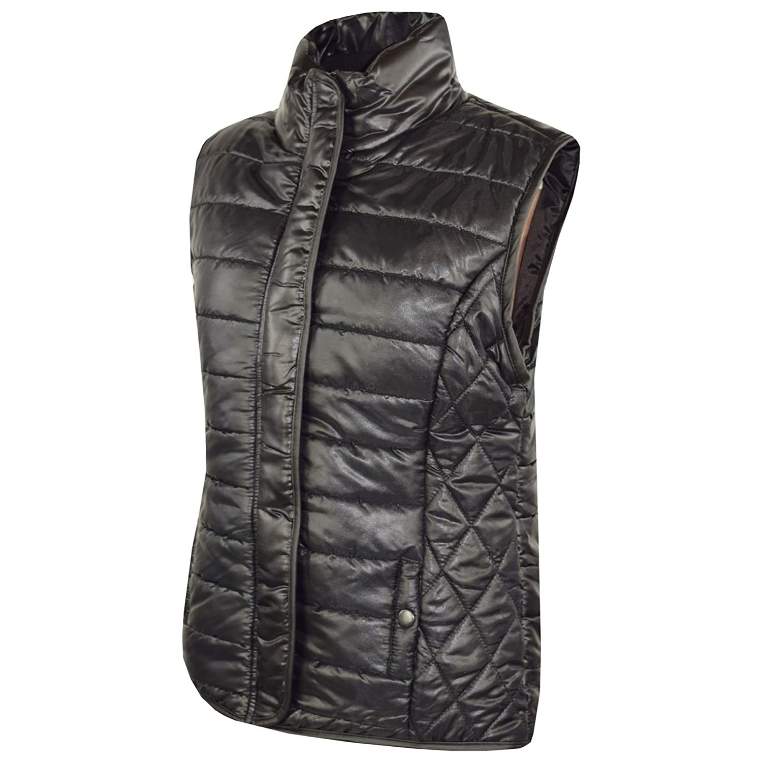 A2Z 4 Kids/® Kids Girls Boys Designers Sleeveless Wetlook Padded Lined Quilted Gilet Bodywarmer Fashion Jackets Age 5 6 7 8 9 10 11 12 13 Years