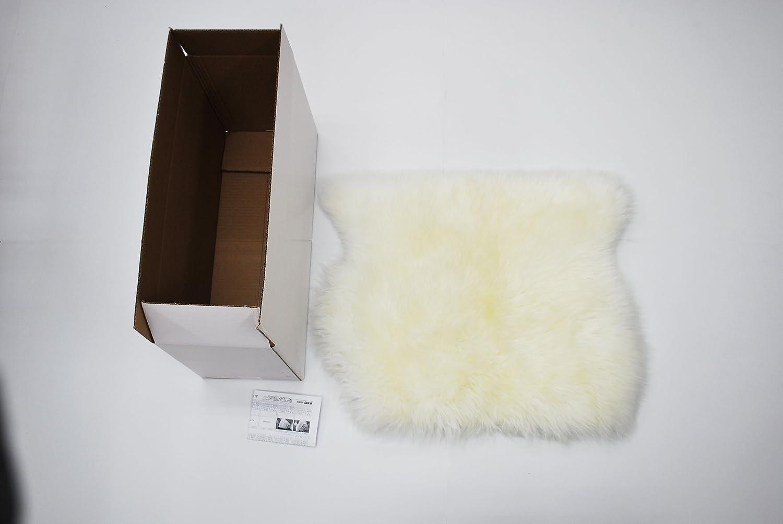BMS(ビーエムエス)  ラグジュアリームートン  クッション (長毛)  ホワイト クッション LA-01WH B00AFPJGEQ ホワイト ホワイト