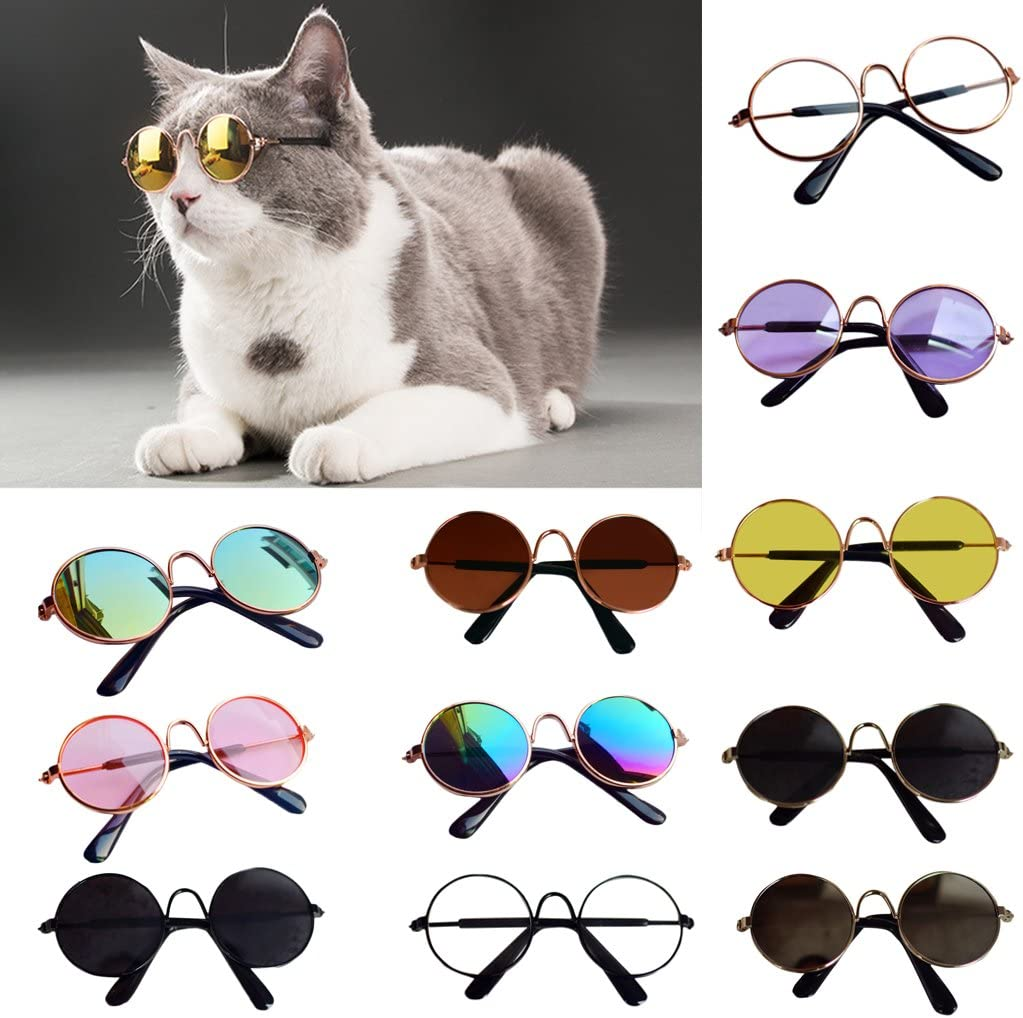 Photo Props Yuxiale Doll Cool Glasses,Pet Sunglasses for Baby Doll Kids Toy Gifts