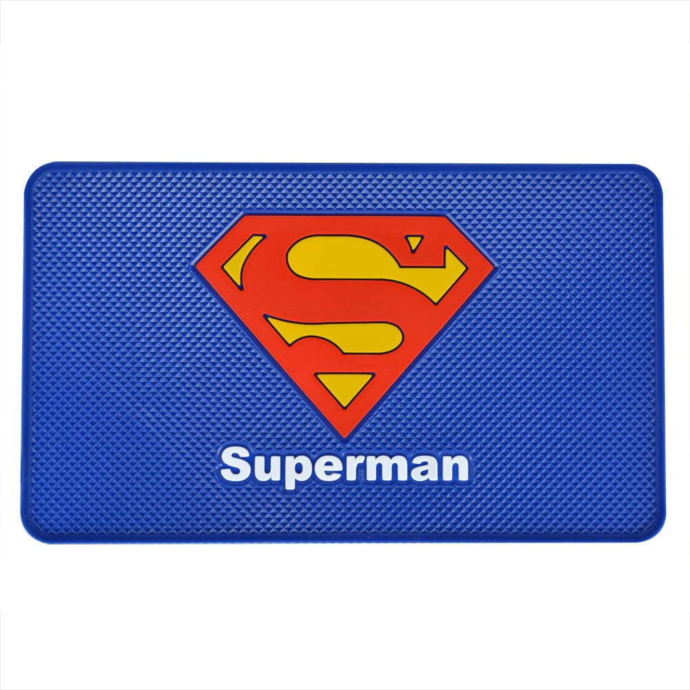Coins and More Tianmei 10.6x6.1 Marvel Comics Pattern Extra Large Size Anti-Slip Rubber Pad Car Dashboard Universal Non-Slip Mat Use for Cell Phones Keys GangTieXia Sunglasses