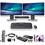 """Home Office - Dual Dell Monitor - 2 Dell P2419H 24"""" Monitors W/Dell WD19 Dock - Logitech Keyboard and Mouse - and More"""