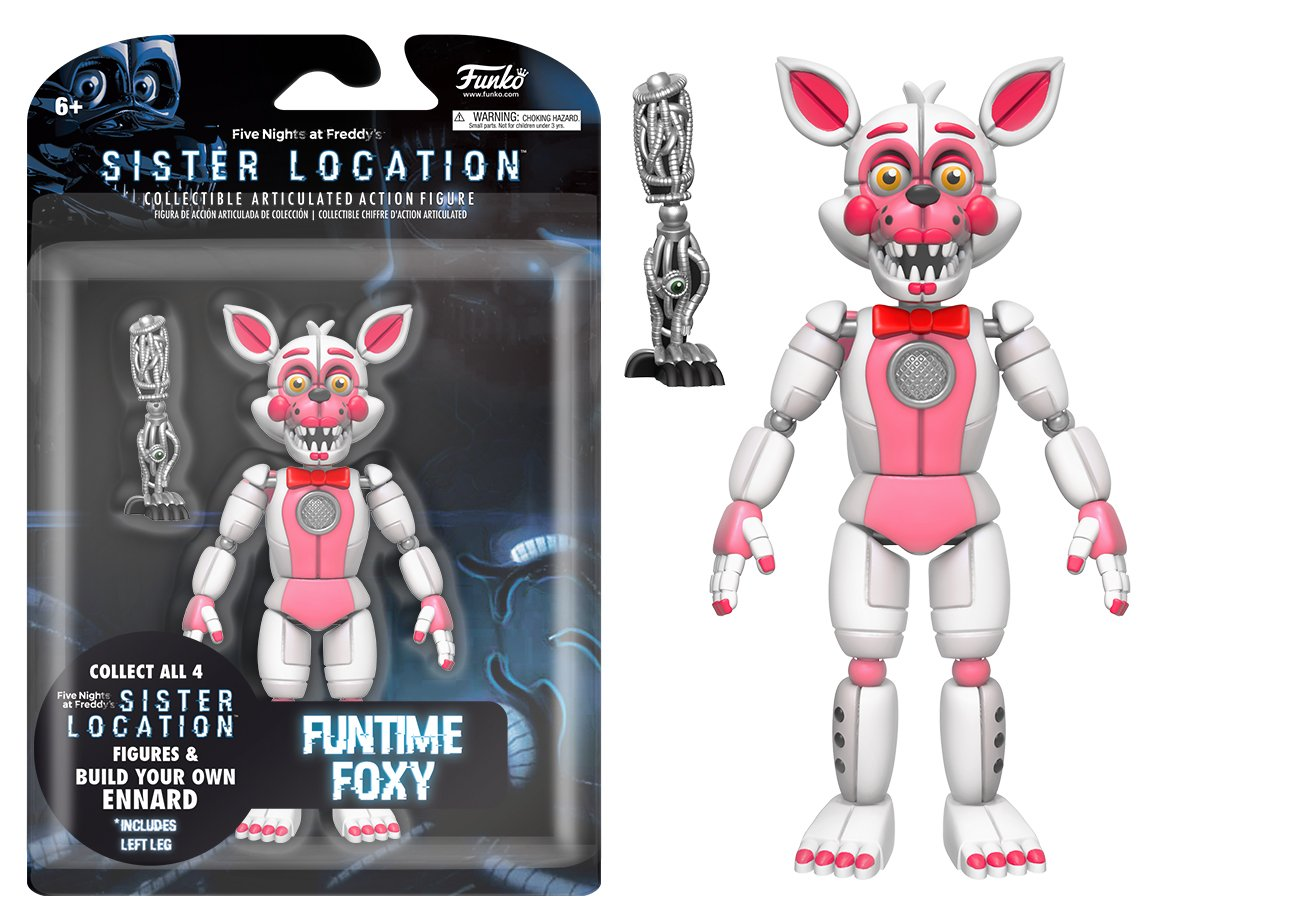 Funko Five Nights at Freddy's Funtime Foxy Articulated Action Figure, 5''