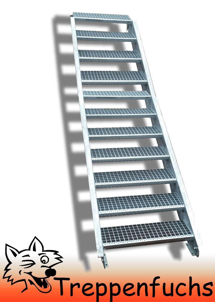 11 Stufen / 100cm breit / Höhe 165 - 220cm