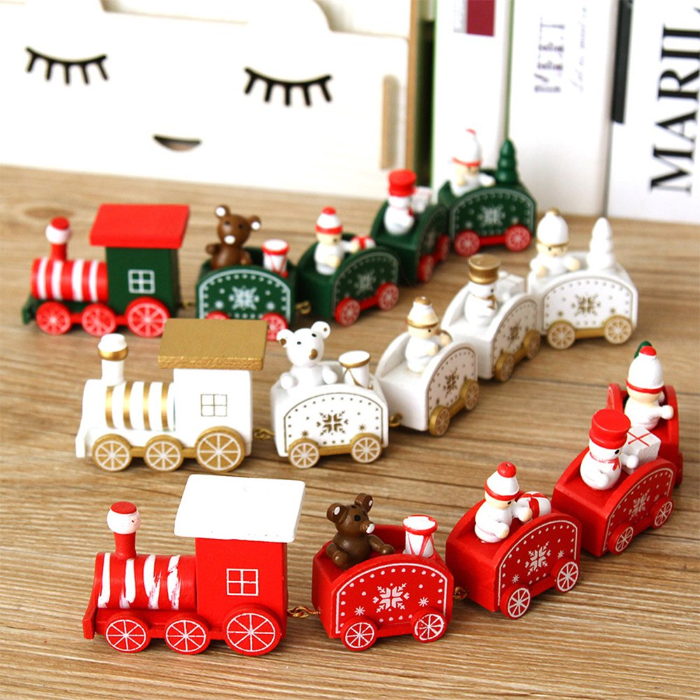 Befitery Weihnachtszug Eisenbahn Weihnachtsgeschenk Holz Zug ...