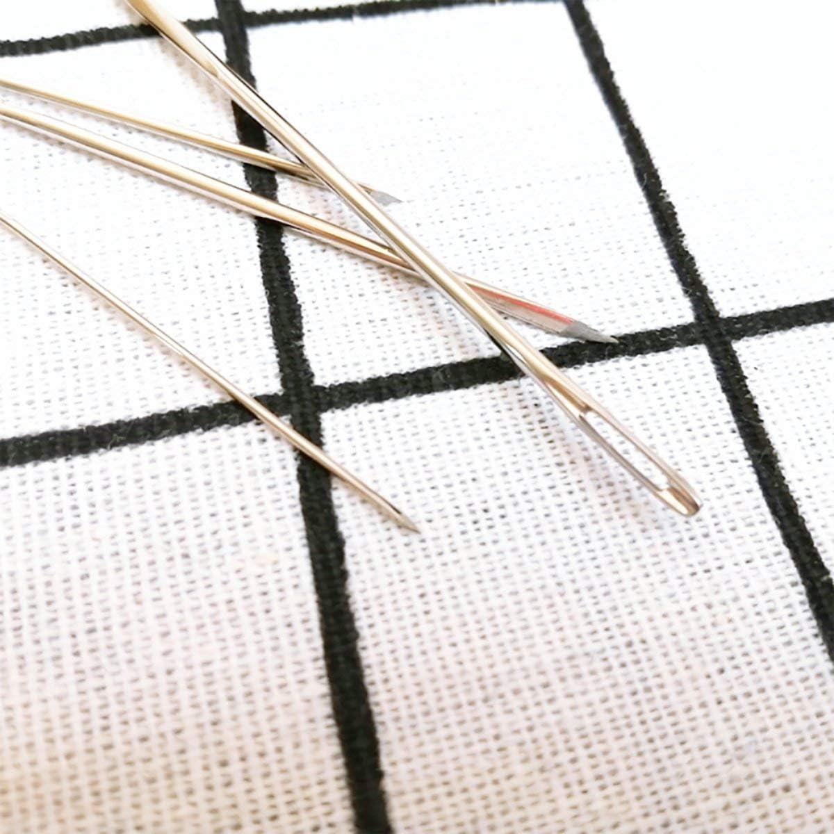 Greatangle C01-006-00066 Agujas de ojo grande Aguja de coser de cuero Aguja Tapiz de bordado Accesorios de costura a mano