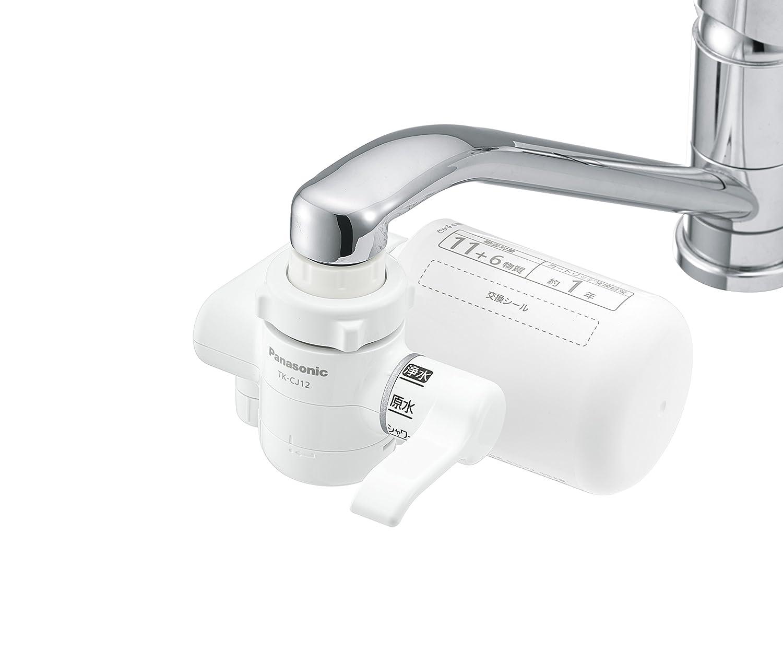 パナソニック 浄水器 蛇口直結型 ホワイト TK-CJ12-W + 浄水器カートリッジ 2個 TK-CJ23C2 セット B06XPVSFHZ 17物質除去|替えカートリッジ(20物質除去)/2個付き  17物質除去
