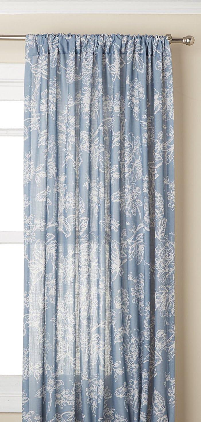 Lorraine Home Fashions Olivia Curtian Window Panel, 52 inch x 63 inch, Blue