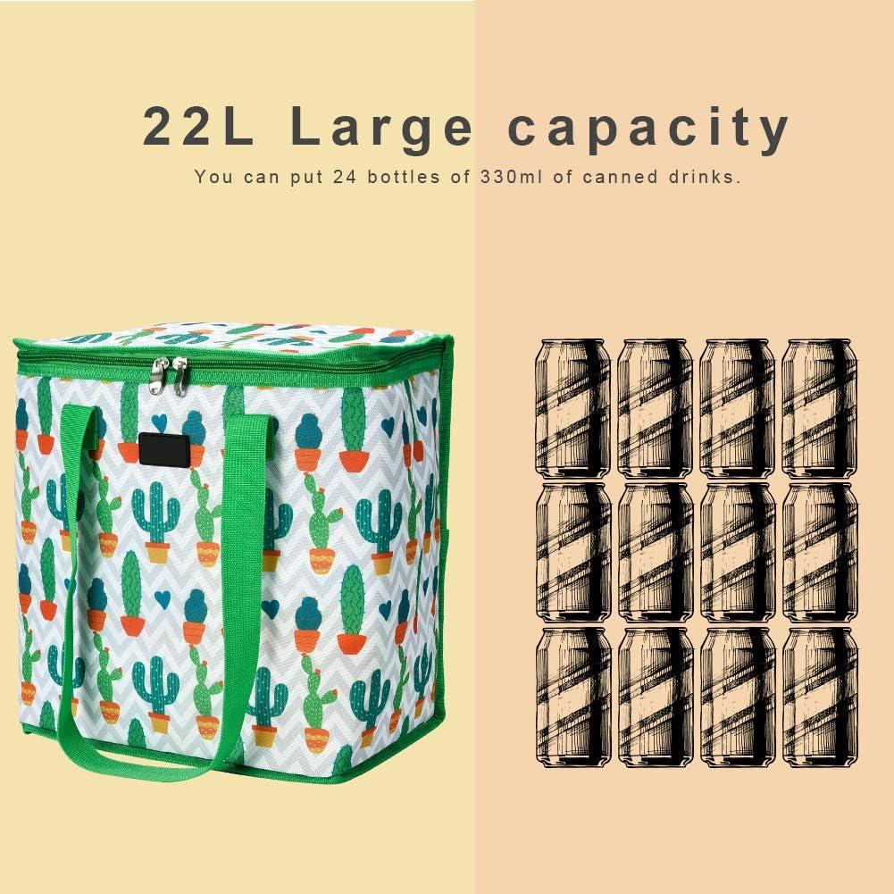 scuola e picnic 22L Verde Cizen Sacchetti pranzo con cerniera per mantenere lisolamento caldo o freddo per lavoro