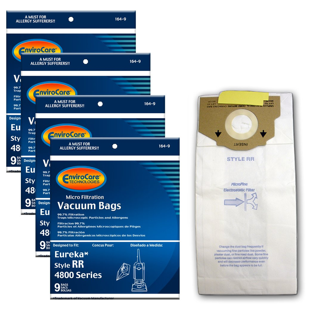 EnviroCare Replacement Vacuum bags for Eureka Style RR Uprights 36 bags by EnviroCare