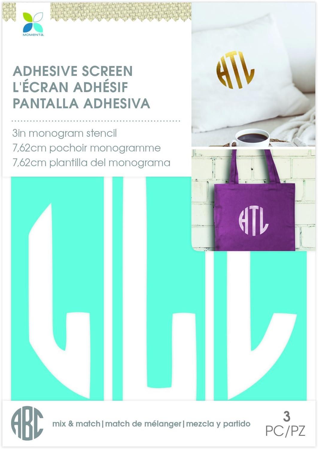 Momenta L Circle Monogram Screen Stencil Blue