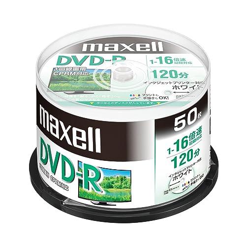 maxcel 録画用DVD-R(1~16倍速対応)インクジェットプリンター対応  DRD120PWE