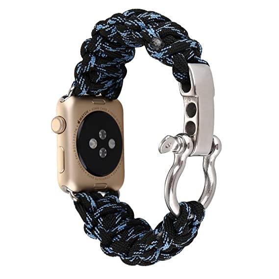 Amazon.com: Military Parachute Watch Belt for 42mm Iwatch ...