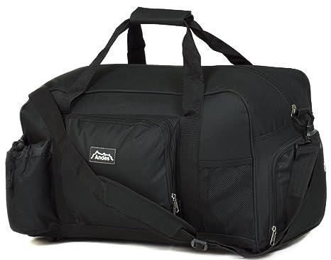 Andes 40 Litre Black Sports Gym Travel Bag Shoulder Holdall Luggage ... d865c91ba77d9