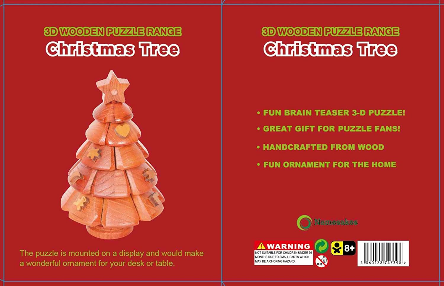 Christmas Brain Teasers For Adults.Namesakes Christmas Tree 3d Wooden Jigsaw Puzzles For Grown Ups Children Novelty Brain Teasers Toy For Adults Kids Xmas Ornament Decoration For