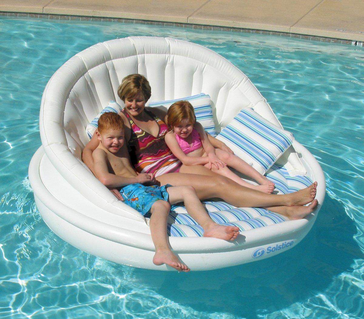 Solstice Aqua Sofa 2 Person Lounge by Swimline