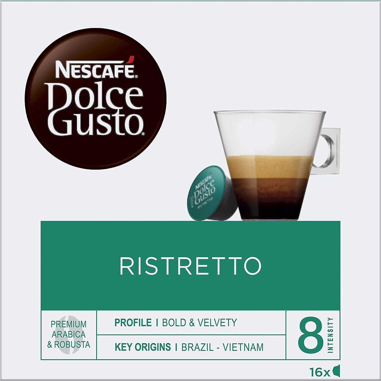 NESCAFÉ Dolce Gusto Cafe Ristretto Cápsulas de café 3 x 16 ...