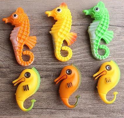 LMKIJN Bonita Ornamento Artificial del Seahorse del Acuario para la Decoración del Paisaje del Acuario (Color al Azar) para la Decoración del hogar: ...