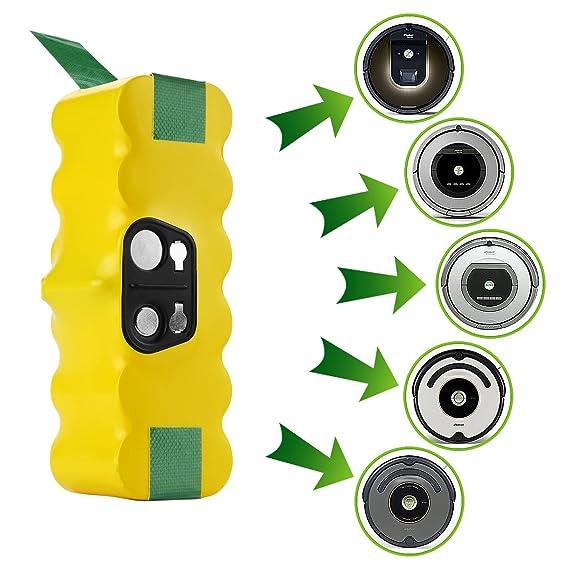 Powilling 3500mAh iRobot Roomba Batería de Ni-MH 14,4V Repuesto para iRobot Roomba 500 600 700 800 Serie aspiradora roomba: Amazon.es: Bricolaje y ...