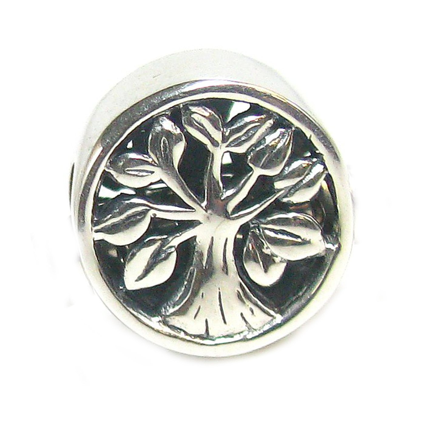 Sterling Silver Tree Of Life Go Round Family Bead For European Charm Bracelets