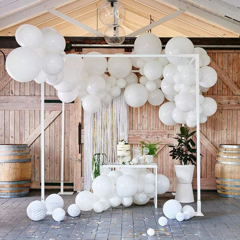 Amazon Com Pack Of 60 White Latex Balloons 12 Inch 18 For Wedding Birthday Party Decorations 50 Ct And 10 Toys Games
