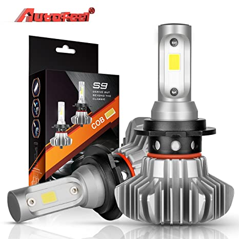 H7 LED Bombillas para faros Autofeel 12V 8000LM Impermeable IP68 Super brillante Coche Exterior Luz blanca