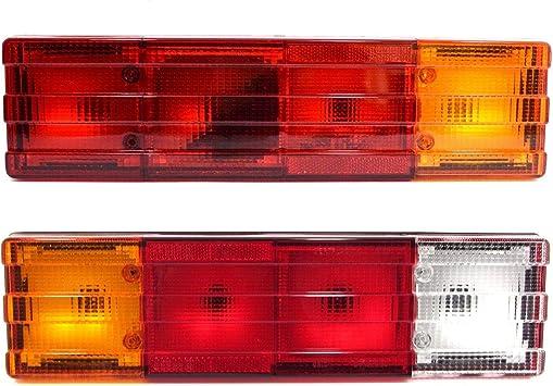 Universal Set Hinter Rückleuchten Rückfahrlicht Heckleuchten Stop Anzeige Rücklicht Lkw Pkw Anhänger Auto