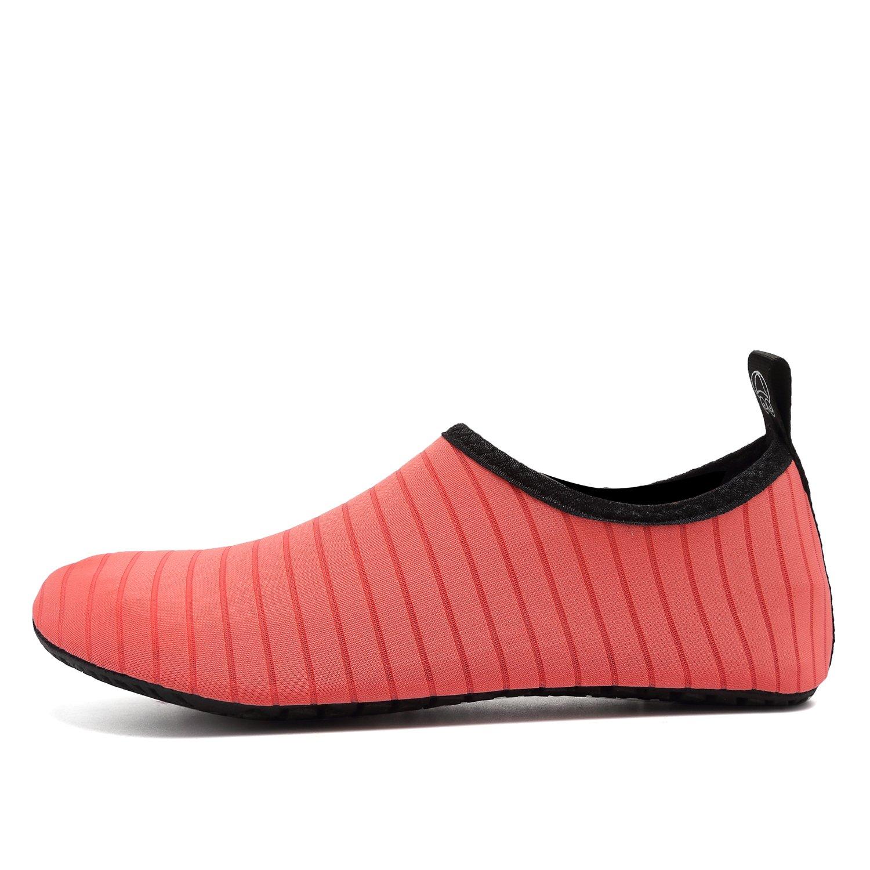 Zapatillas de agua OUYAJI Beach Swim Barefoot Shoes Calcetines de Aqua de  secado rápido Yoga para niños de verano para hombres de mujer Rosa b60c24f7f64
