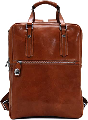 Floto Firenze Top Handle Leather Backpack