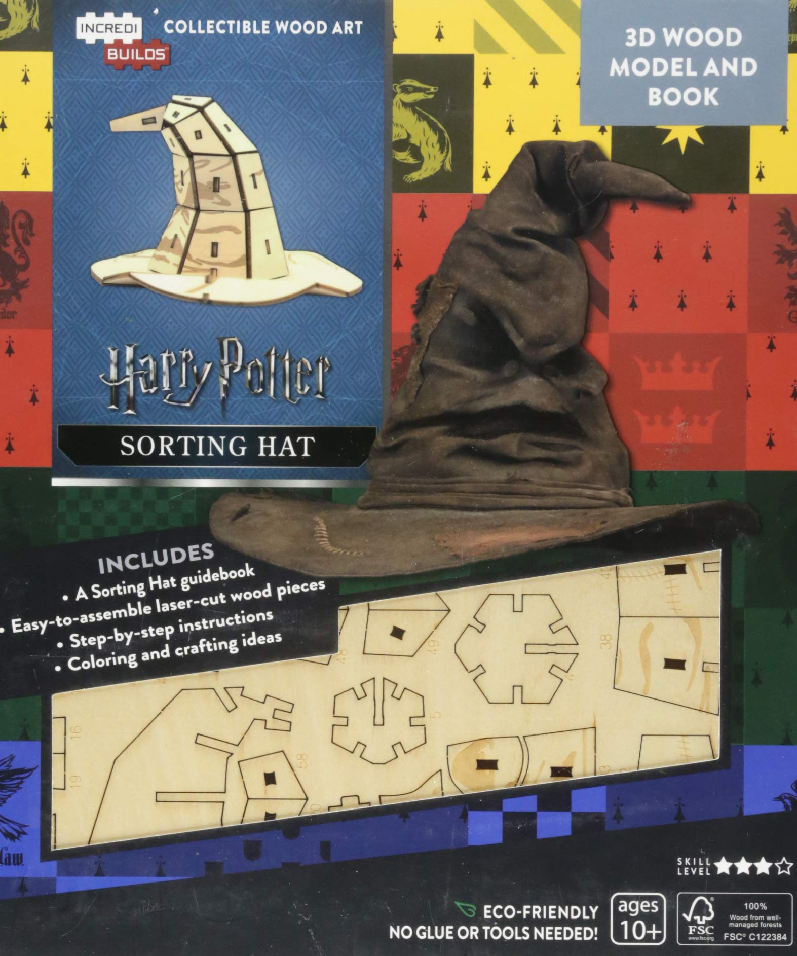 IncrediBuilds: Harry Potter: Sorting Hat Book and Model Set ...