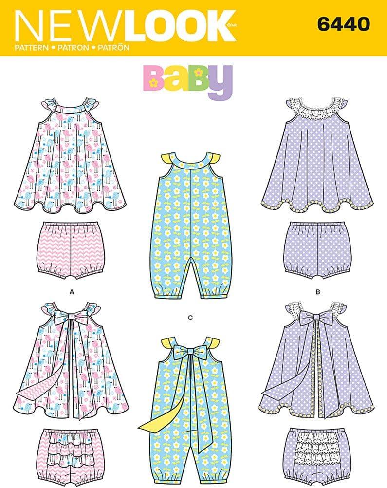 New Look Bebés Body y Flores con patrón de Costura para Braguitas ...