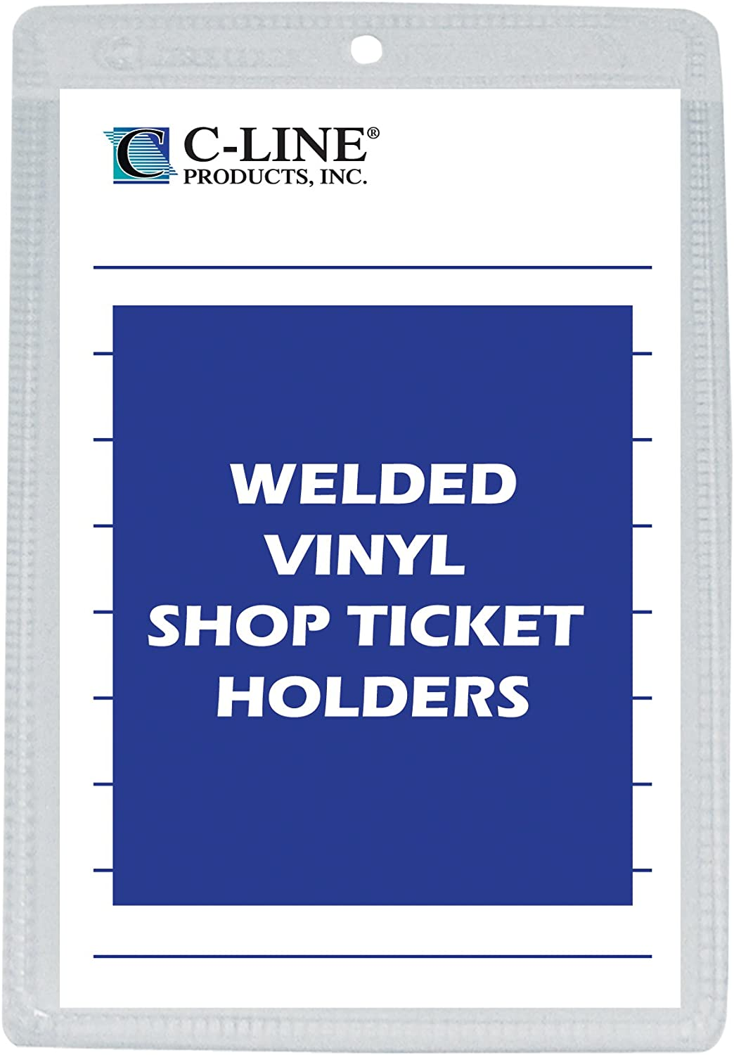 C-Line Vinyl Shop Ticket Holders, Both Sides Clear, 6 x 9 Inches, 50 per Box (80069)