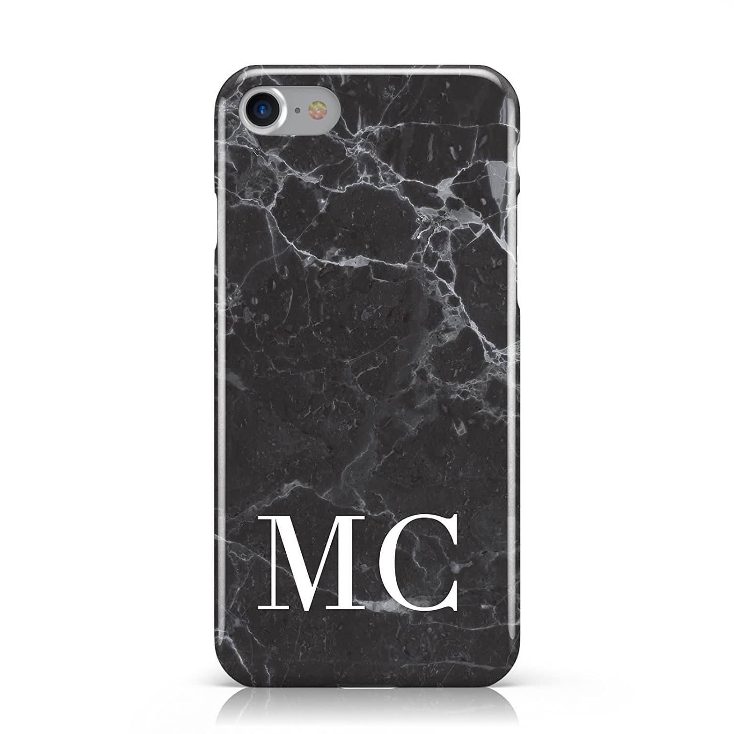 more photos 7f5be b0900 PERSONALISED MONOGRAM BLACK MARBLE MOBILE PHONE CASE COVER FOR APPLE IPHONE  7