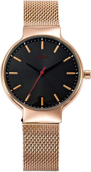 Reloj de pulsera resistente al agua para el día de San Valentín o Navidad, reloj de pulsera de cuarzo informal y simple, para mujer, con correa de acero inoxidable