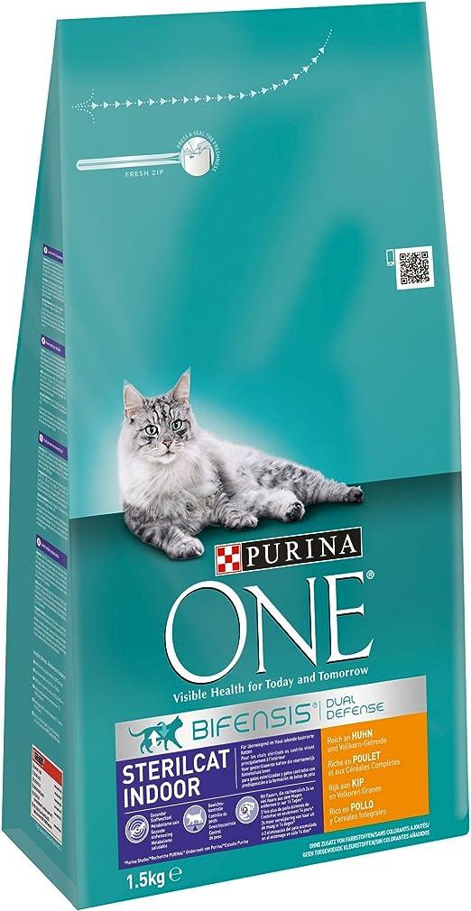 PURINA ONE Bifensis Pienso para Gatos Esterilizados Pollo y Trigo 6 x 1,5 Kg: Amazon.es: Productos para mascotas